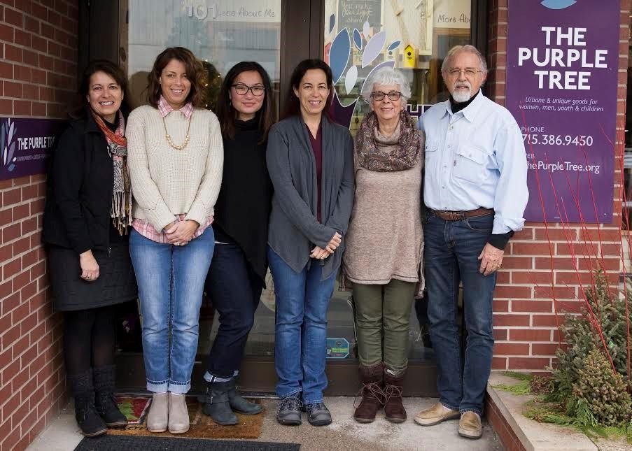 The Purple Tree (L to R): Angela, Sarah, Leah, Elizabeth, Liz & Dan Bruch.