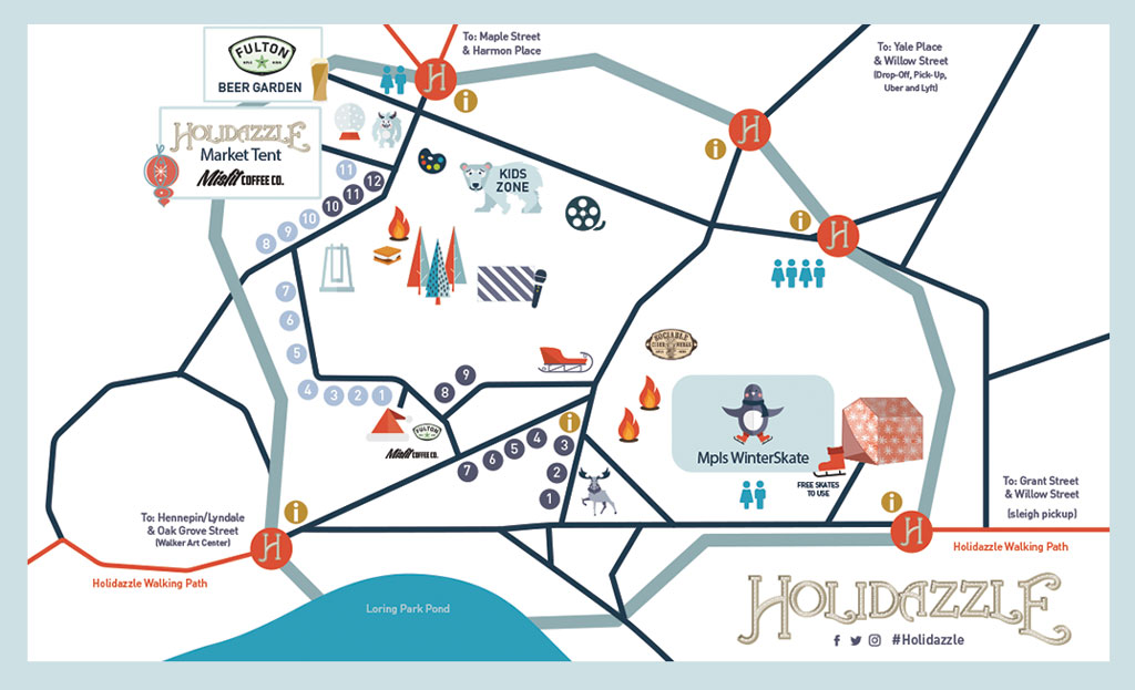 Maps - Holidazzle Minneapolis Downtown Minneapolis Map Pdf on